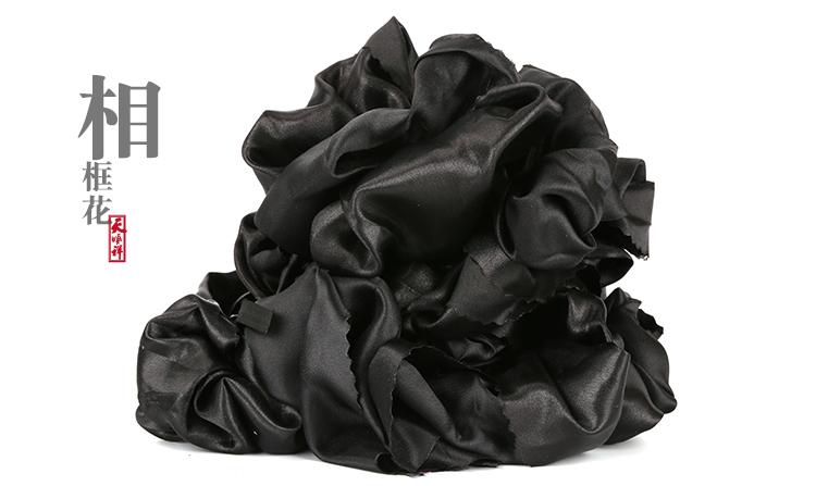 遗像黑花相框花