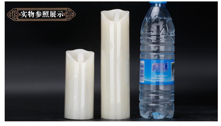 电子白色蜡烛实物参照展示