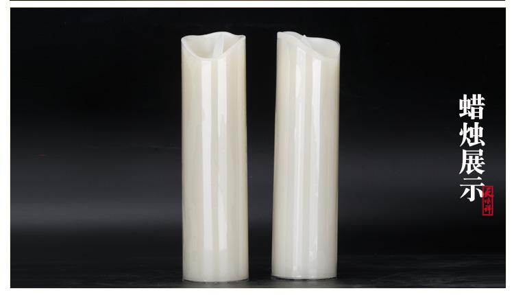 电子白色蜡烛展示