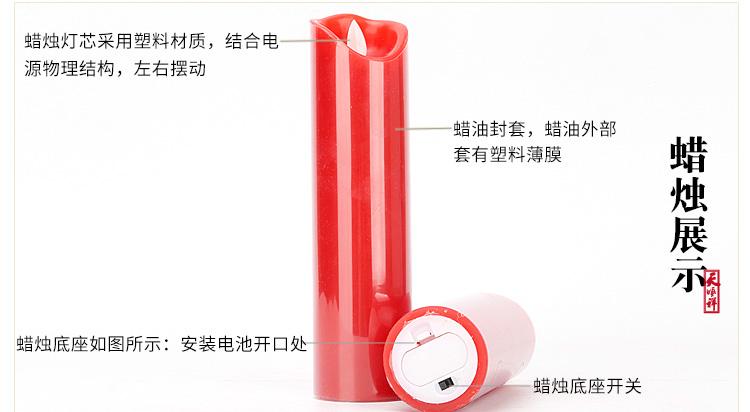电子红色蜡烛细节展示
