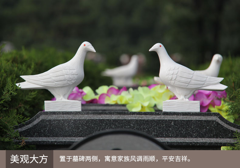 精雕汉白玉红玛瑙眼睛鸽子实景拍摄