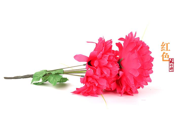 红色小号绢花