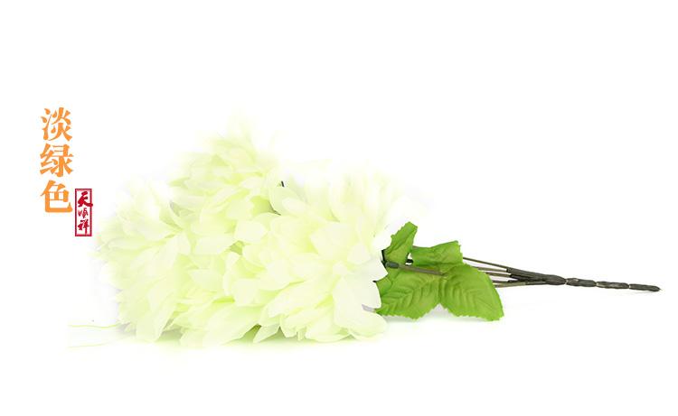 淡绿色小号绢花