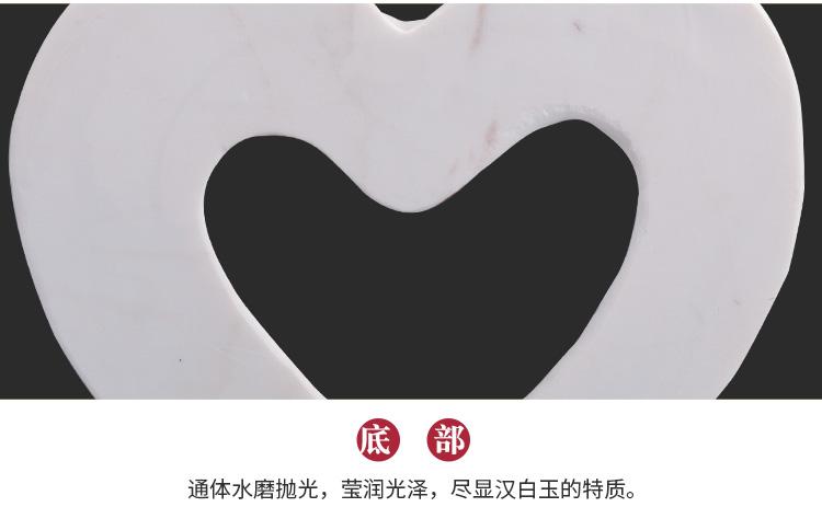 心形汉白玉玫瑰花环底部