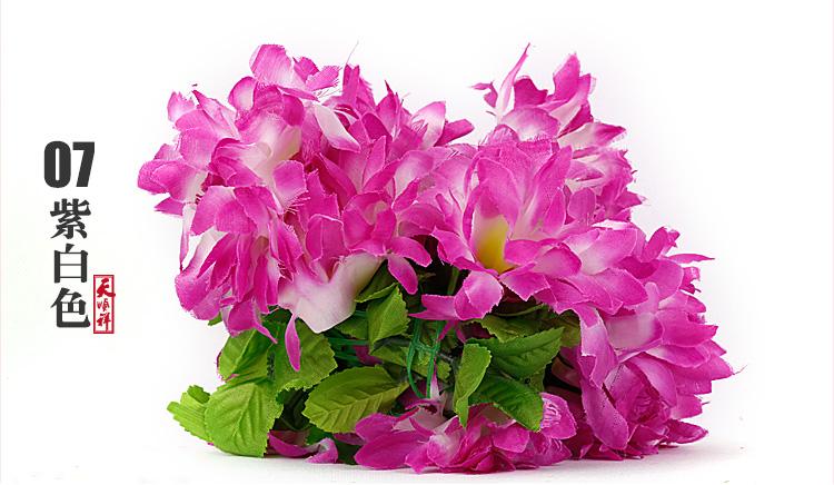 紫白色有叶拉花(12朵)