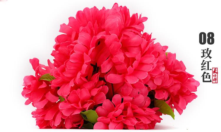 玫红色有叶拉花(12朵)
