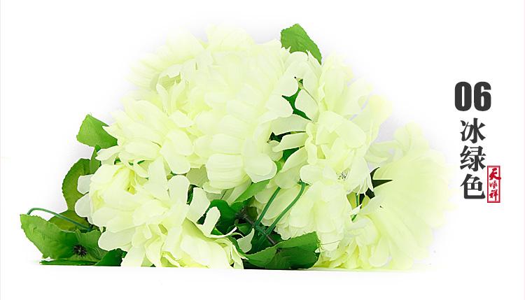 冰绿色有叶拉花(12朵)