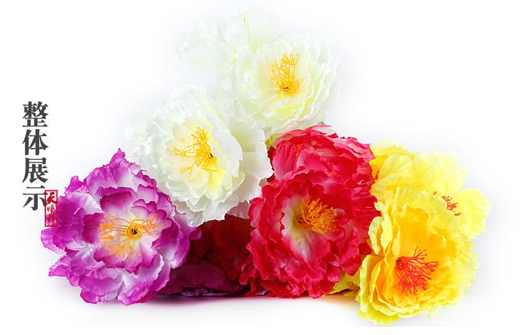 中号绢花整体展示