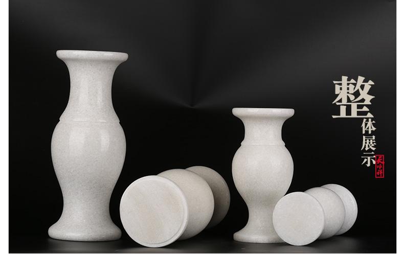 汉白玉花瓶整体展示