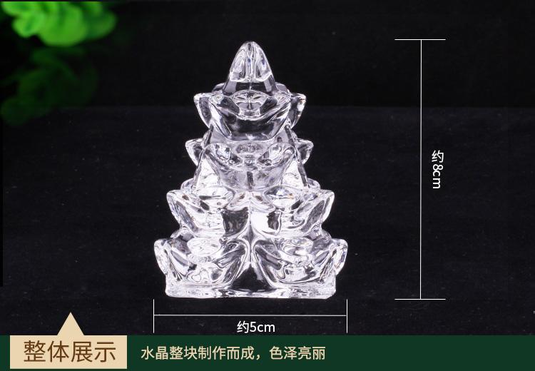 水晶金银山尺寸展示