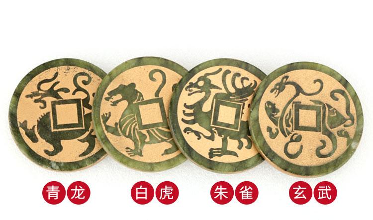四神兽玉石青龙、白虎、朱雀、玄武
