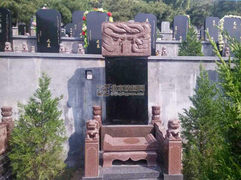 温泉墓园龙狮碑