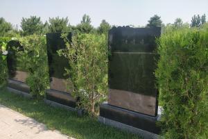 墓碑背面展示