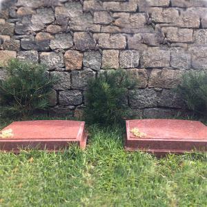 功泽园树葬生态卧碑(红)