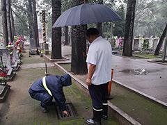 北京市顺义区潮白陵园三大举措积极应对强降雨天气