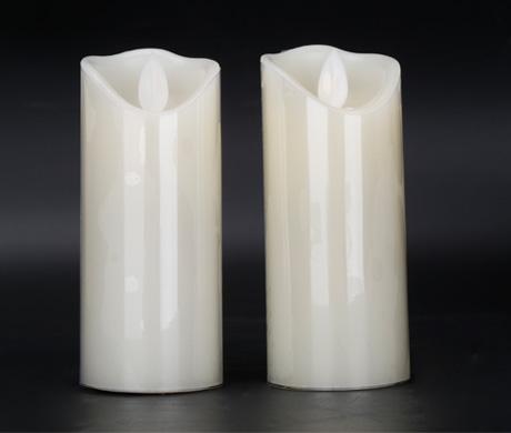 电子白色蜡烛