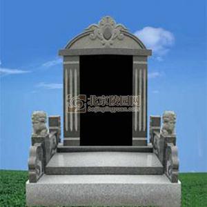 豪华墓区黑色三墓碑