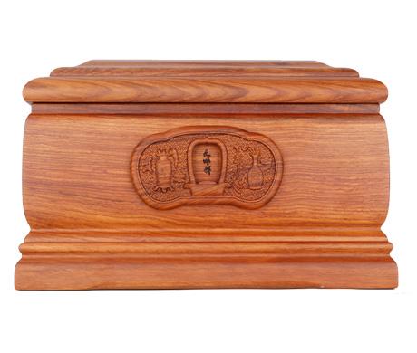 平安刺猬紫檀骨灰盒