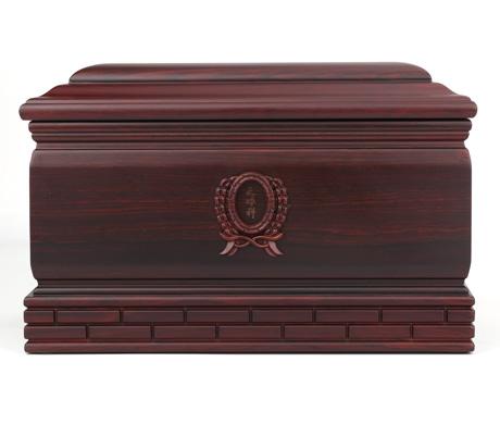 纪念堂大红酸枝骨灰盒
