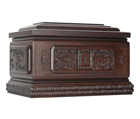 鹤归自然(小)黑紫檀骨灰盒