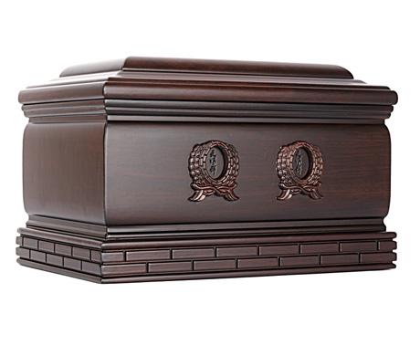 纪念堂(双人)黑紫檀木骨灰盒