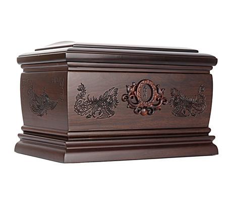 吉祥凤黑紫檀骨灰盒