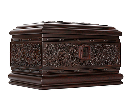 龙宫黑紫檀骨灰盒