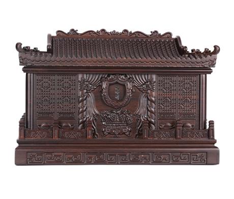 天寿宫黑紫檀骨灰盒