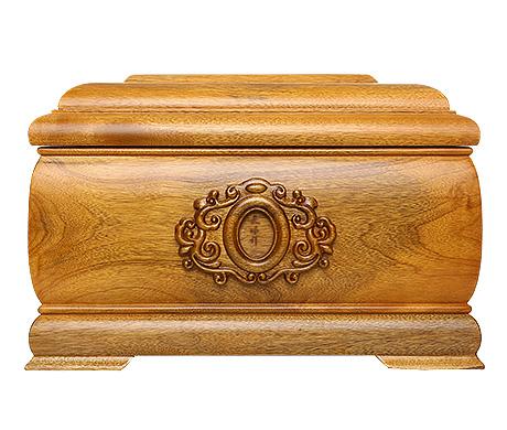 回归自然金丝楠木骨灰盒