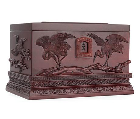 鹤园紫檀木骨灰盒