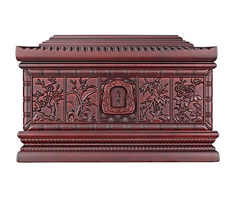 江南风情紫檀木骨灰盒