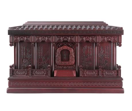 梅兰竹菊紫檀木骨灰盒