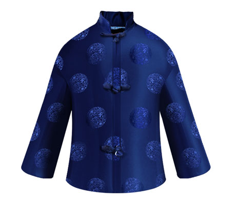 龙纹男唐装(蓝色)