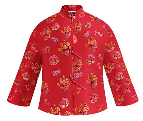 福凤女唐装(红色)